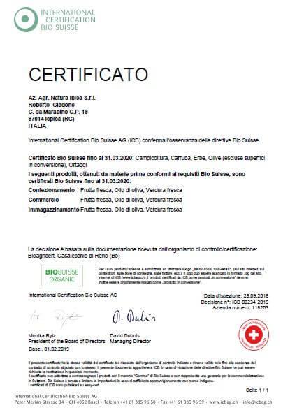 """""""certificato"""
