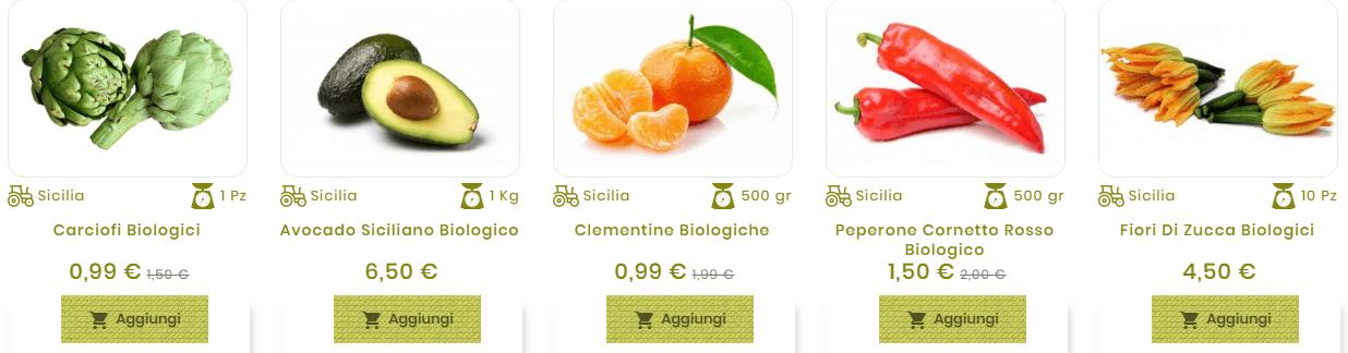 prodotti biologici sicilia
