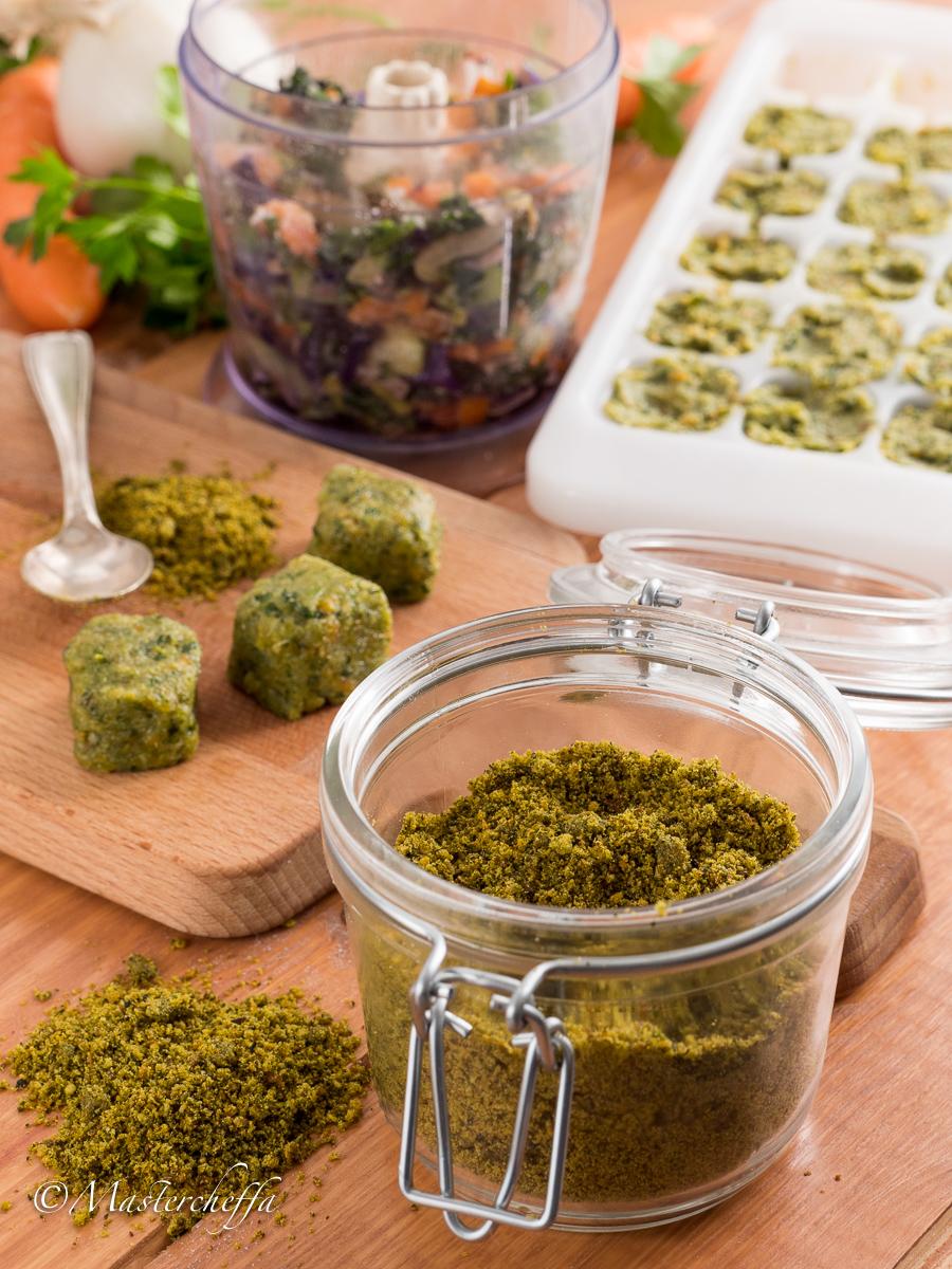 Come fare il dado vegetale granulare e a cubetti